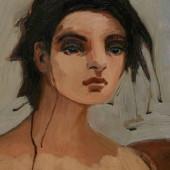 Dreaming (Detail) Oil on panel 26