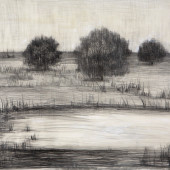 Dusk Encaustic and graphite on panel 16