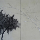 From Winter Encaustic and graphite on panel 16