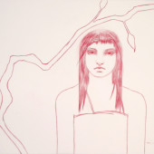 Maiden (Youth with Hair Ribbon) Conte on vellum 25
