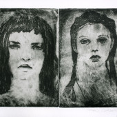 Nyx and Youth: side by side Etching 11