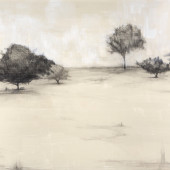 Open Space Encaustic and graphite on panel 24