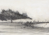 White Lake Encaustic and graphite on panel 6