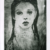 Young Girl Etching 11